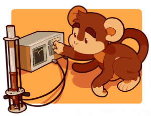 Analyzer Monkey cartoon