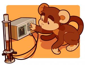 Analyzer Monkey cartoon