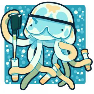 Box Jellyfish cartoon