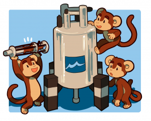 Magent Monkey cartoon