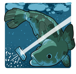 Toothfish cartoon